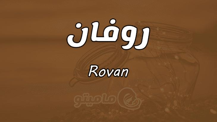 ما معنى اسم روفان Rovan بالتفصيل
