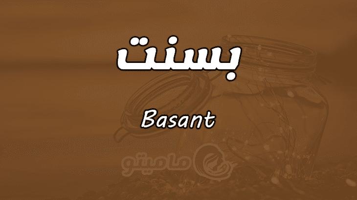 معنى اسم بسنت Basant وأسرار شخصيتها