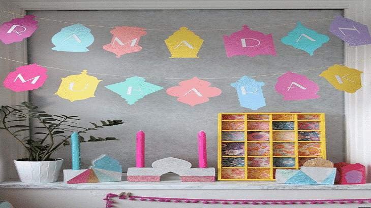 طريقة عمل زينة رمضان بالفوم في البيت