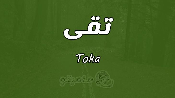 معنى اسم تقى Toka وصفات حاملة الاسم