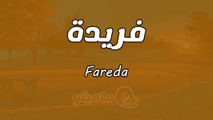 معنى اسم فريدة Fareda وصفات حاملة الاسم