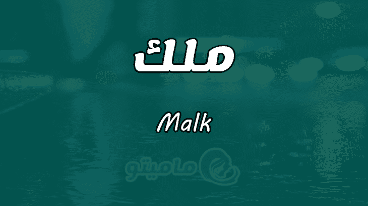 معنى اسم ملك Malk وصفات حاملة الاسم ماميتو