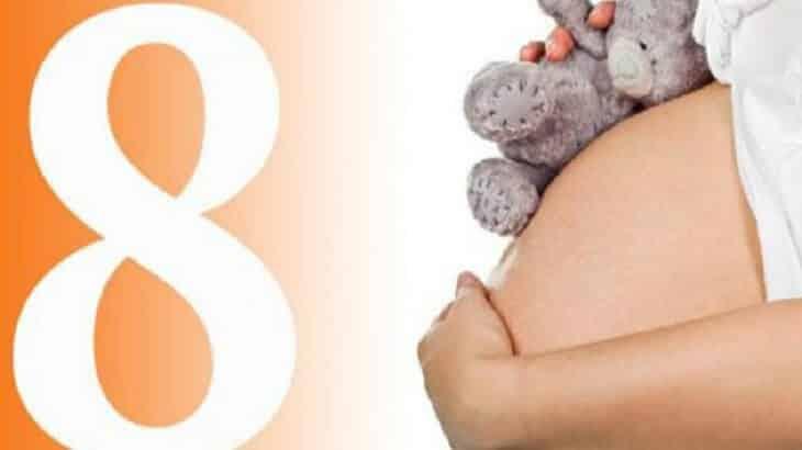 اعراض الشهر الثامن من الحمل بالتفصيل