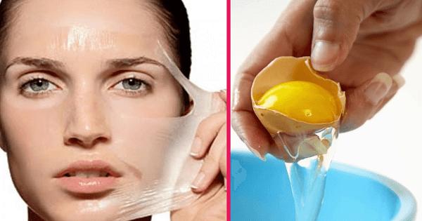 طريقة استخدام قناع بياض البيض للوجه والمناديل
