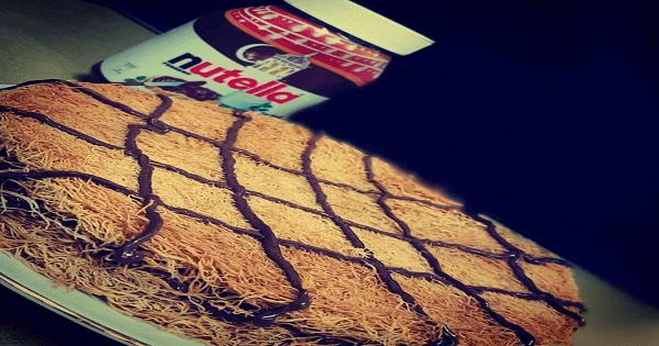 طريقة عمل الكنافة بالنوتيلا والموز خطوة بخطوة