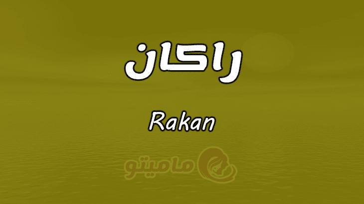 معنى اسم راكان Rakan في علم النفس