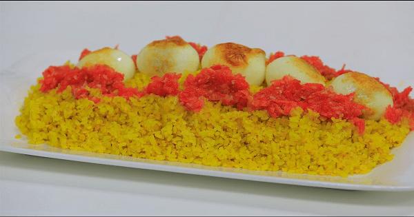 طريقة عمل الكشرى الاصفر بالارز البسمتي بالصور