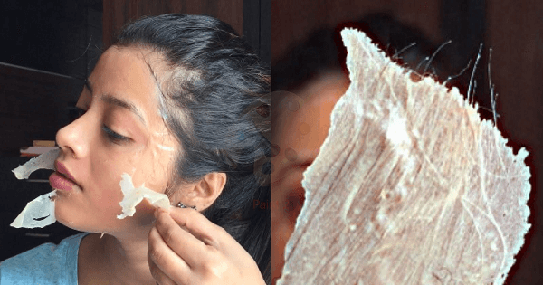 ماسك الجيلاتين لإزالة شعر الوجه بسرعة