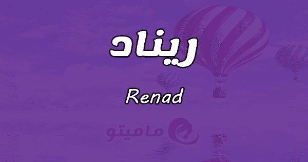 معنى اسم ريناد Renad حسب علم النفس بالتفصيل ماميتو