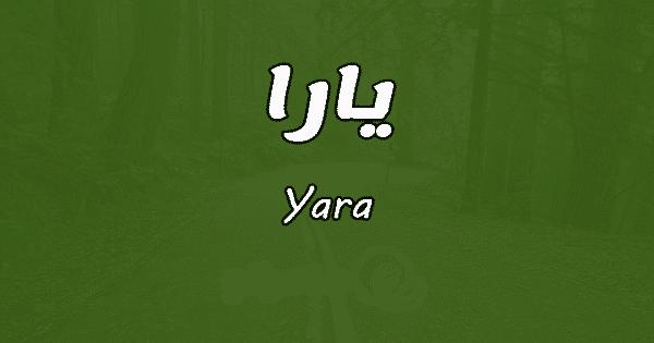 معنى اسم يارا Yar وصفاتها في علم النفس