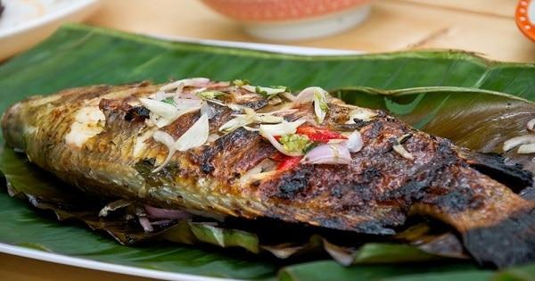 طريقة عمل السمك البلطى المشوي بالزيت