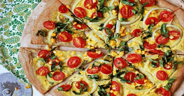 طريقة عمل البيتزا الصيامى بالخضروات بالصور