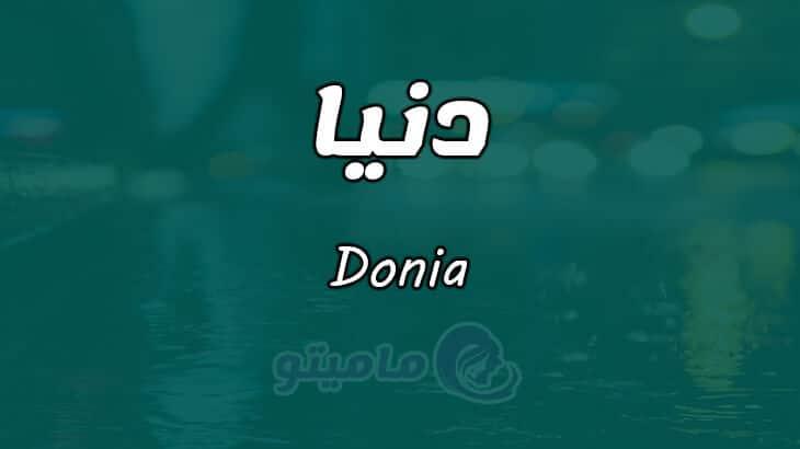 معنى اسم دنيا Donia حسب علم النفس