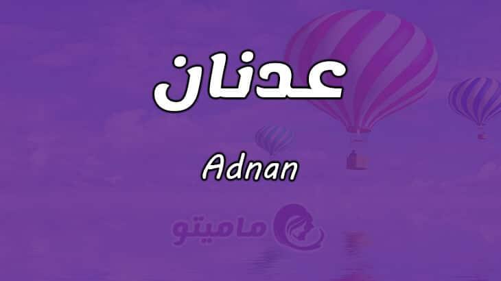 معنى اسم عدنان Adnan في علم النفس