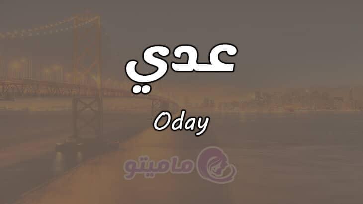 معنى اسم عدي Oday وشخصيته حسب علم النفس