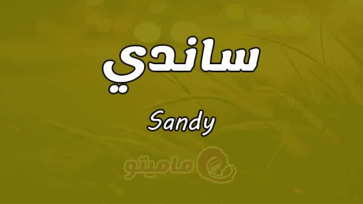 معني اسم ساندي Sandy وشخصيتها وصفاتها