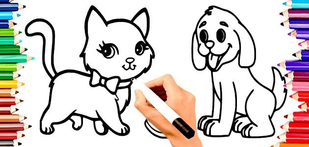 طريقة تعليم الرسم للأطفال بالصور خطوة بخطوة