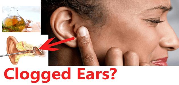طريقة تنظيف الأذن المسدودة في المنزل