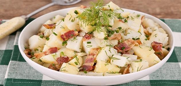 طريقة سلطة البطاطس بالزبادي والمايونيز