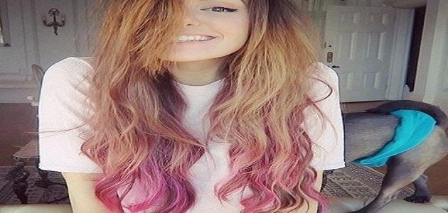 طريقة صبغ أطراف الشعر بالصور