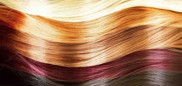 طريقة صبغ اطراف الشعر بالصور