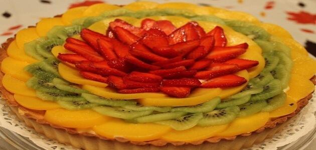 طريقة عمل تارت الفواكه بالكاسترد بدون بيض