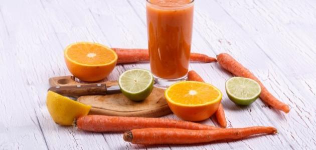 طريقة عمل عصير البرتقال بالجزر