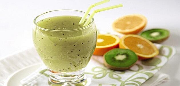 طريقة عمل عصير الكيوي بالبرتقال والموز