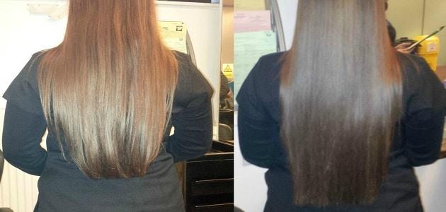 معدل نمو الشعر الطبيعي في الأسبوع