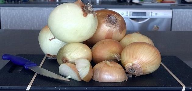 الفرق بين البصل الأبيض والبصل الأحمر للرجيم
