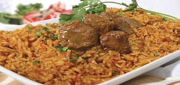 طريقة عمل كبسة اللحم السعودي بالصور