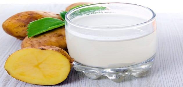 فوائد شرائح البطاطس والحليب للبشرة