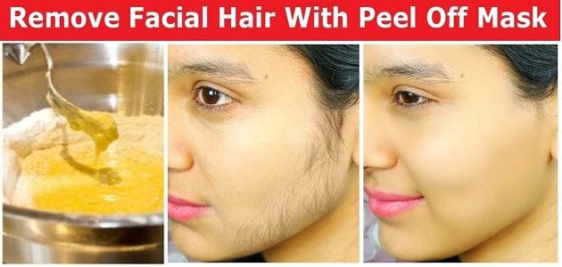 ماسك لإزالة شعر الوجه للبشرة الحساسة