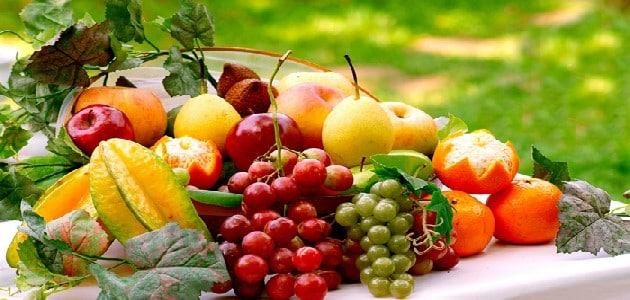 الفواكه الحمضية والغير حمضية