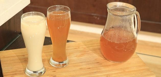 طريقة عمل عصير الدوم باللبن بالصور