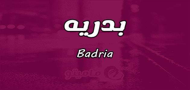 معنى اسم بدريه Badria في علم النفس.png