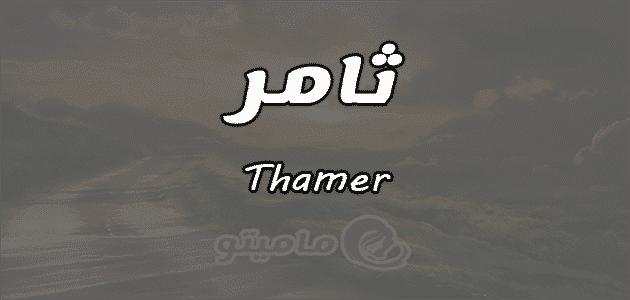 معنى اسم ثامر Thamer وشخصيته وصفاته
