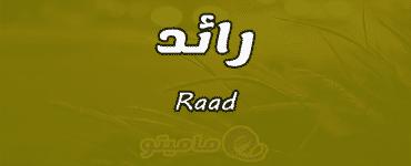 معنى اسم رائد Raad واسرار شخصيته