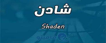 معنى اسم شادن Shaden حسب علم النفس