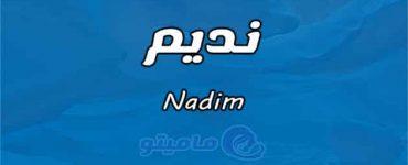 معنى اسم نديم Nadim وشخصيته وصفاته