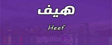 معنى اسم هيف Heef في علم النفس