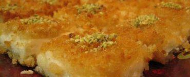 طريقة سهلة لتحضير الكنافة الكذابة بالخبز والسميد
