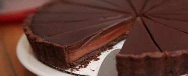 طريقة عمل تارت الشوكولاتة بالبسكويت بالصور