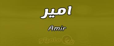 معنى اسم امير Amir وصفات حامل الاسم