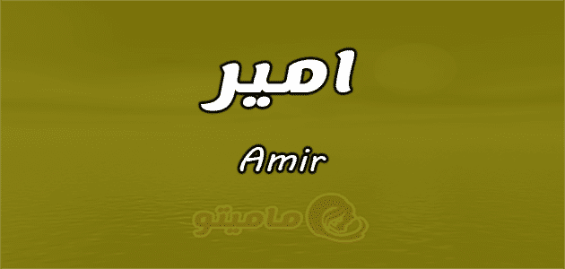معنى اسم أمير Amir وصفات حامل الإسم ماميتو