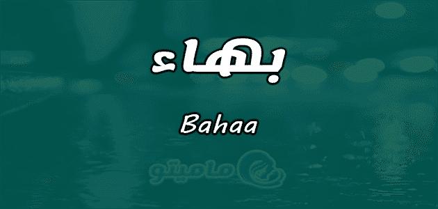 معنى اسم بهاء Bahaa وصفات حامل الاسم
