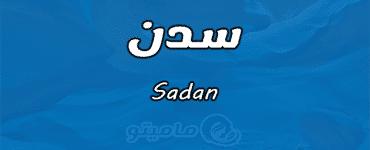 معنى اسم سدن Sadan حسب علم النفس