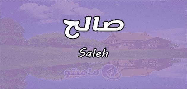 معنى اسم صالح Saleh وشخصيته وصفاته