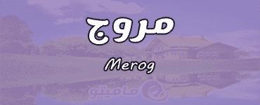معنى اسم مروج Merog وصفات حاملة الاسم