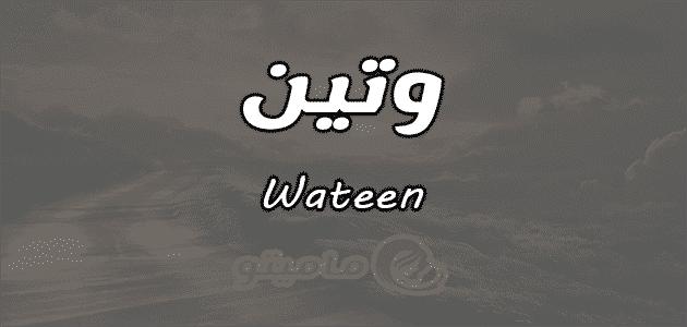 معنى اسم وتين Wateen حسب علم النفسمعنى اسم وتين Wateen حسب علم النفس